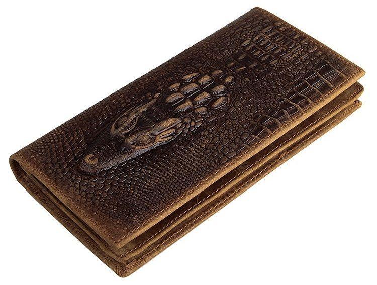 Купюрник мужской Vintage 14381 кожаный Коричневый, Коричневый
