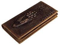 Купюрник мужской Vintage 14381 кожаный Коричневый, Коричневый, фото 1