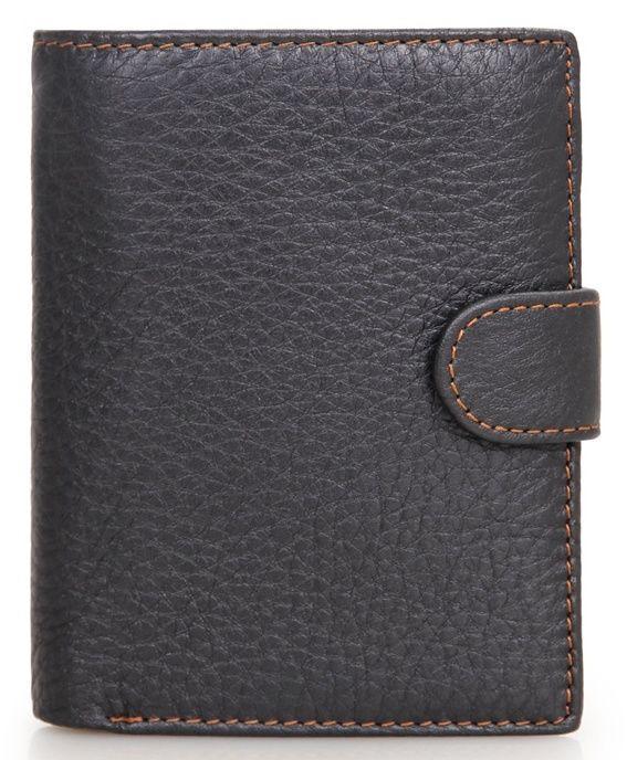 Портмоне мужское Vintage 14387 Черное, Черный