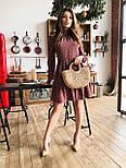 Женское легкое, нежное платье с рюшами в горошек, фото 2