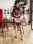 Женское легкое, нежное платье с рюшами в горошек, фото 3