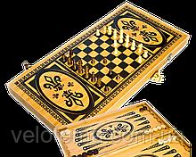 Игровой набор 3в1 Нарды,Шахматы,Шашки бамбук