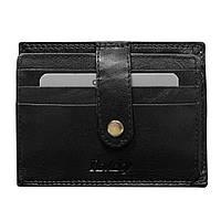 Картхолдер для пластиковых карт кожаный Rovicky N1902-RVTK Black