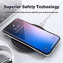Беспроводное зарядное устройство TOPK 10 Вт Qi для iPhone X XS XR 8 Plus быстрая samsung S8 S9 S10 Xiaomi Mi 9, фото 3