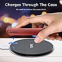 Беспроводное зарядное устройство TOPK 10 Вт Qi для iPhone X XS XR 8 Plus быстрая samsung S8 S9 S10 Xiaomi Mi 9, фото 5