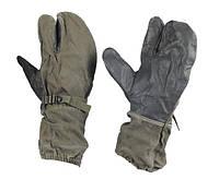 Рукавиці трипалі армії Німеччини, олива, оригінал, Б/У, фото 1