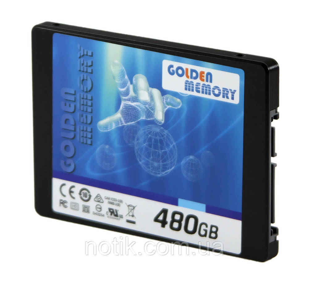 "Твердотельный накопитель 480Gb, Golden Memory G300, SATA3, 2.5"", MLC (AV480CGB)"