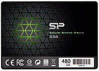 "Твердотельный накопитель 480Gb, Silicon Power Slim S56, SATA3, 2.5"", 3D TLC, 560/530 MB/s (SP480GBSS3S56A25)"