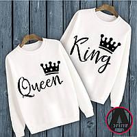 """Печать на парной одежде. Парные свитшоты с принтом """"King Queen"""""""