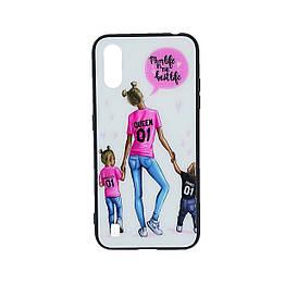 Зеркальный чехол для Samsung Galaxy A01 A015 с ярким рисунком Girl Case, Mom Life
