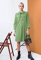 Лаконичное трикотажное платье 57425 (42–48р) в расцветках, фото 1