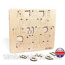 Деревянный сортер с английским алфавитом 40x36,5x1см