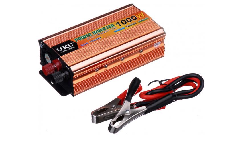 Перетворювач напруги(інвертор) 24-220V 1000W + USB Gold