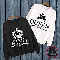 """Печать на парной одежде. Парные свитшоты с принтом """"King Queen 2"""""""