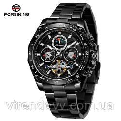 Часы наручные Forsining 6913 All Black Черные