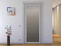 Міжкімнатні металопластикові двері скло сатин