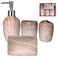 Набор для ванной 4 предмета, аксессуары для ванной, принадлежности для ванной комнаты