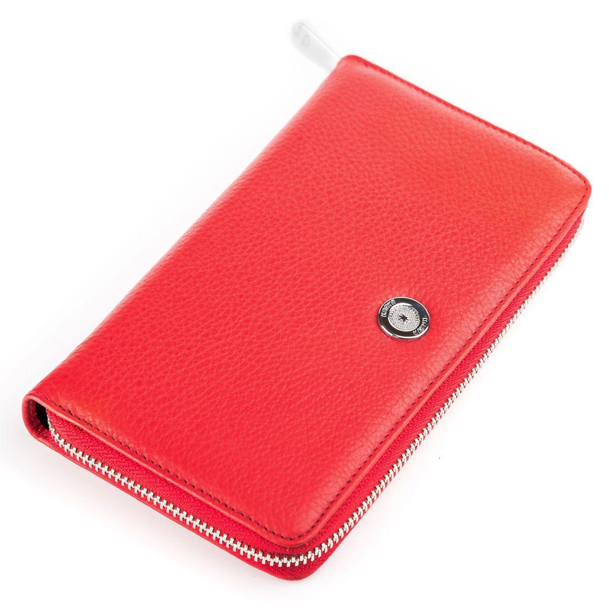 Кошелек женский KARYA 17004 кожаный Красный