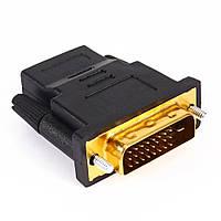 Переходник Конвертер с HDMI (F) на DVI (M), фото 1