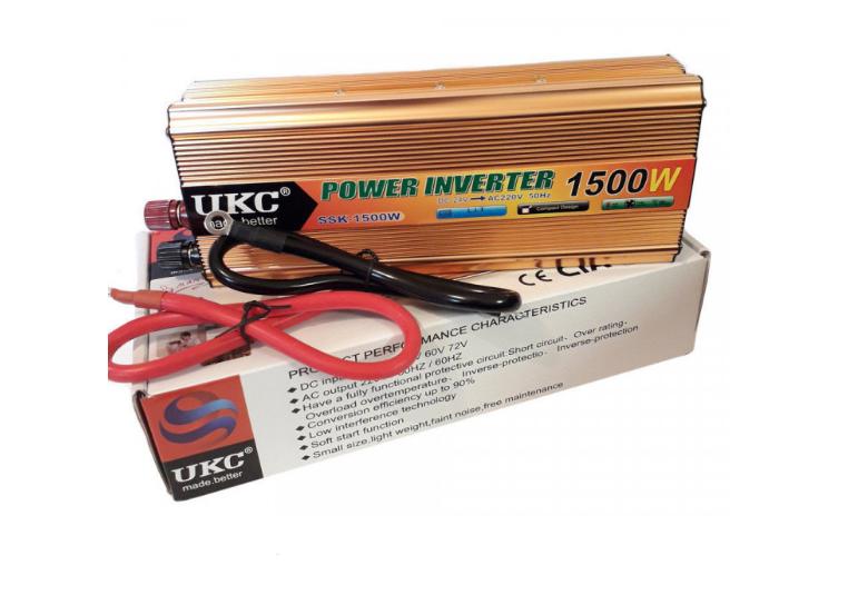 Профессиональный преобразователь инвертор UKC 1500W SSK AC/DC 24V