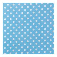 """Ткань """"Карузо"""" голубая в горошек для штор и обивки"""