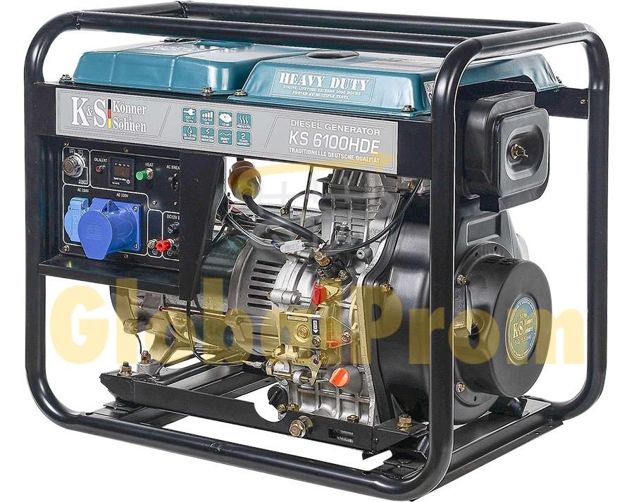 Дизельный генератор Könner & Söhnen KS 6100HDE (двигатель Euro V)