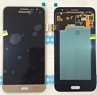 Оригинальный дисплей (модуль) + тачскрин Samsung Galaxy J3 2016 J320A J320F J320H J320M (золотой, OLED)