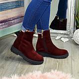 Ботинки женские замшевые демисезонные на утолщенной подошве, фото 5