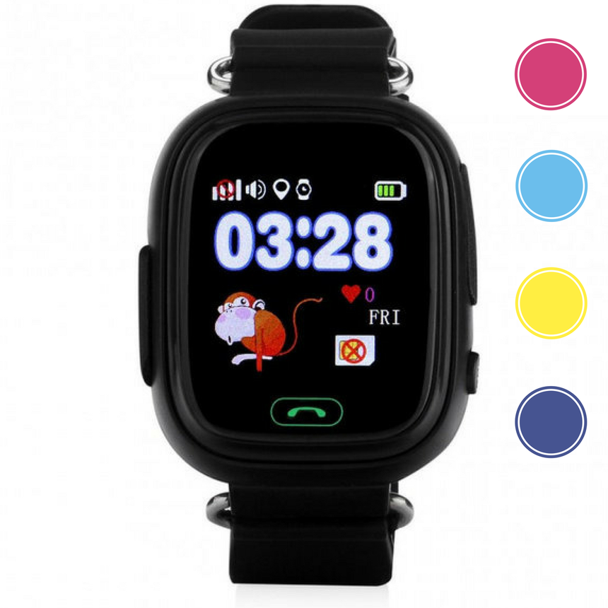 """Детские умные смарт часы дитячий годинник Q90 Q100 Smart Baby Watch с GPS и кнопкой SOS 1.22"""" 5 цветов, фото 2"""