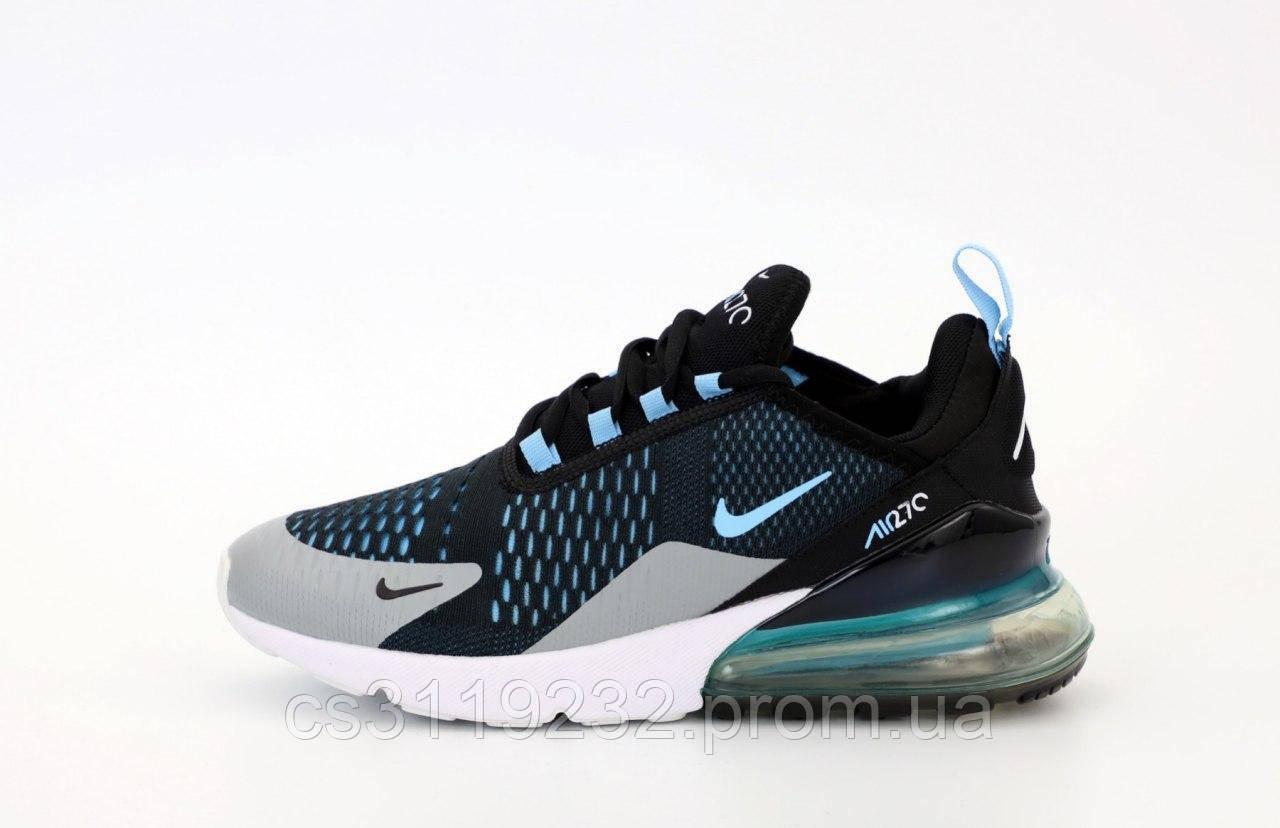 Мужские кроссовки Nike Air Max 270 (черный/серый/голубой)