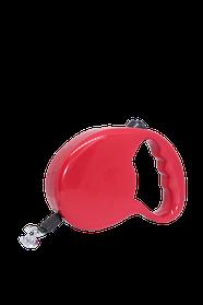 Поводок-рулетка FOX для собак 3 метра лента, красный