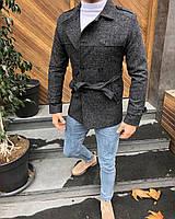 Пальто чоловіче темно-сіре z9