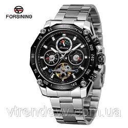 Часы наручные Forsining 6913 Silver-Black-Black Серебро
