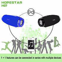 Портативная Bluetooth колонка Hopestar Original со встроенным микрофоном Чёрная (H27), фото 3