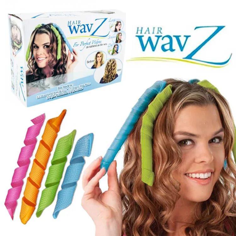 Волшебные бигуди для волос любой длины Hair Wavz | бигуди-спиральки