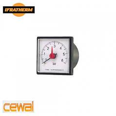 """Манометр с выносным датчиком Cewal IQ 37 P (37x37, 1/4"""", 0-6 bar, 1500mm)"""