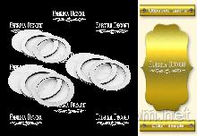 Набор заготовок для шейкеров Круги (Золото) 6x6 см