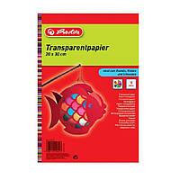 Папір кольоровий напівпрозорий Herlitz 20х30см 10арк 10кол 40г (246413), фото 1