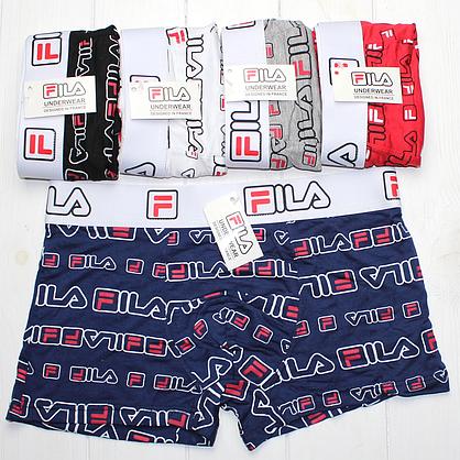 Мужские трусы боксеры шорты транки подарочный набор Fila Фила 5 шт, фото 3