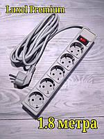Сетевой компьютерный фильтр Luxel Premium 2.2 кВт , фильтр-удлинитель