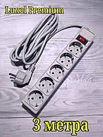 Сетевой компьютерный фильтр Luxel Premium 2.2 кВт , фильтр-удлинитель 3