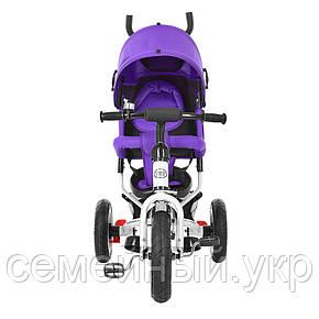 Трехколесный велосипед для самых маленьких. Turbo Trike M 3113-8A. Фиолетовый, фото 2