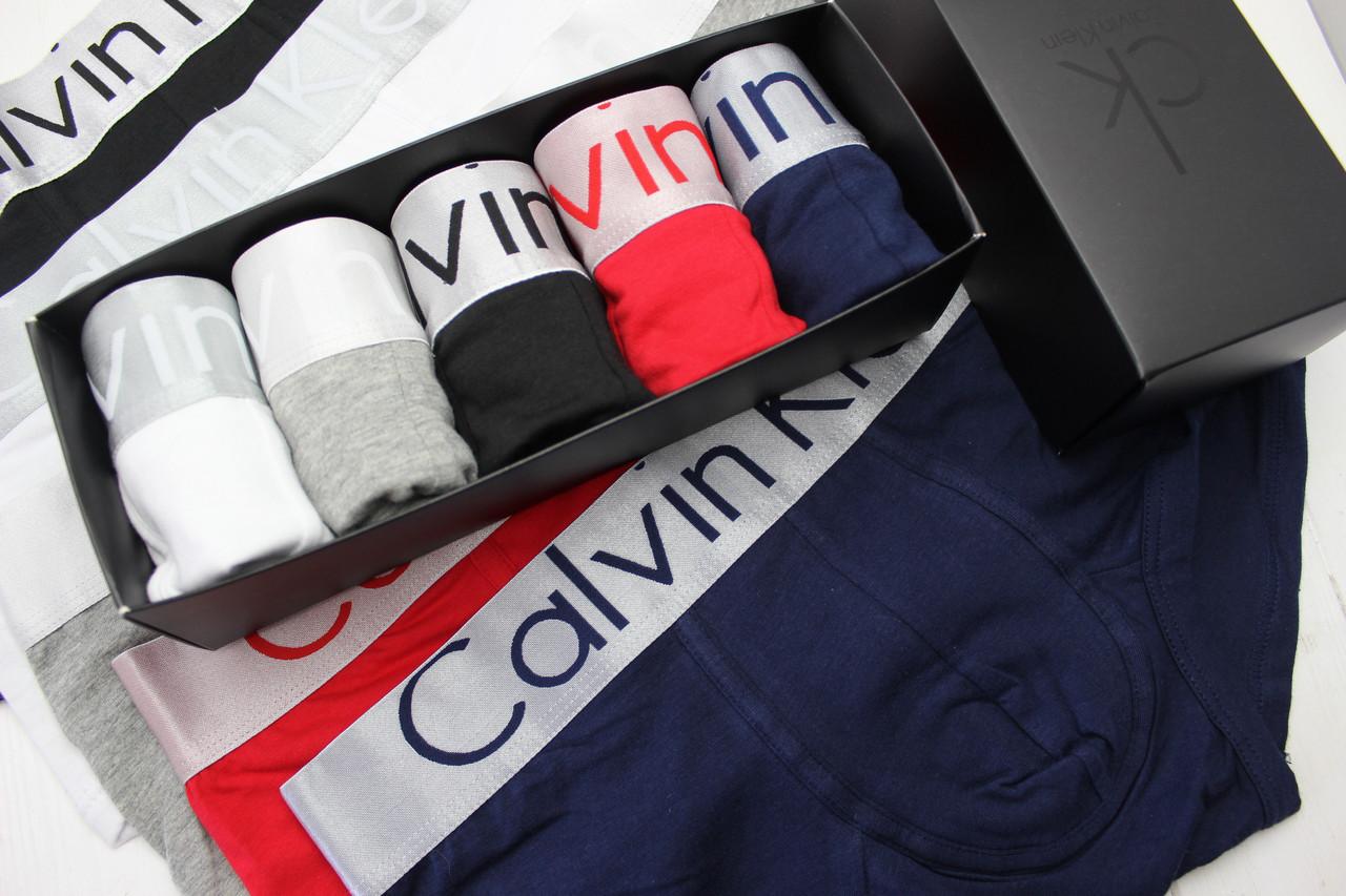 Набор трусов Кельвин Кляйн 5 шт в подарочной упаковке