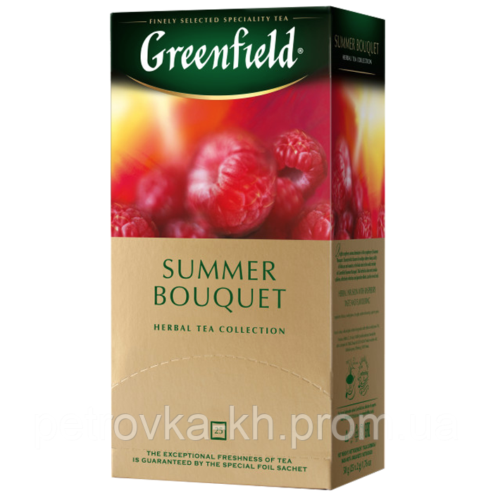 "Чай в пакетиках Greenfield ""Summer Bouquet"" 25шт Малина"