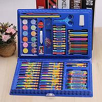 Художественный набор для рисования 86 предметов в подарочном кейсе Синий