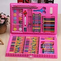 Художественный набор для рисования 86 предметов в подарочном кейсе Розовый, фото 1