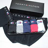 Мужские трусы брифы слипы брендовые в подарочной упаковке хлопок 5шт реплика + 3шт носков