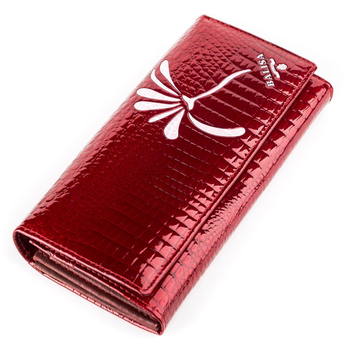 Кошелек женский BALISA 13858 кожаный Красный, Красный