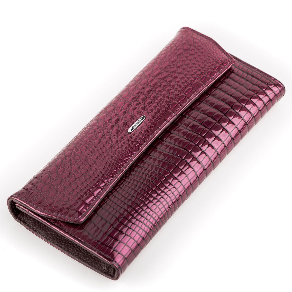 Кошелек женский BALISA 13863 кожаный Фиолетовый, Фиолетовый
