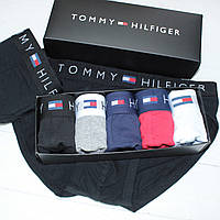 Мужские трусы брифы слипы брендовые в подарочной упаковке хлопок 5шт реплика, фото 1